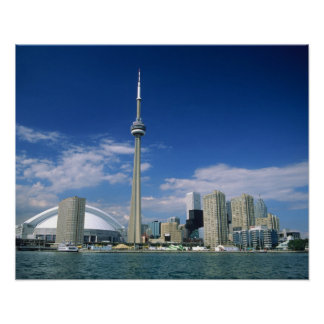 CN Tower and Skydome in Toronto, Ontario, Posters