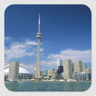 CN Tower and Skydome in Toronto, Ontario, Square Sticker