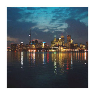 CN Tower n Toronto Skyline at night Canvas Print
