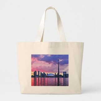 CN Tower : View from Center Island Toronto Bag