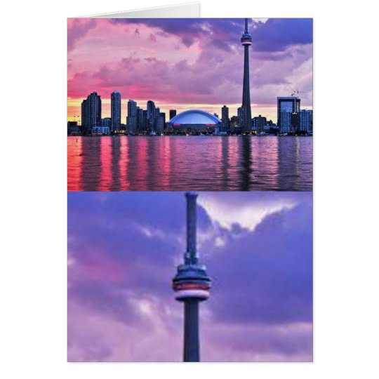 CN Tower : View from Center Island Toronto Card