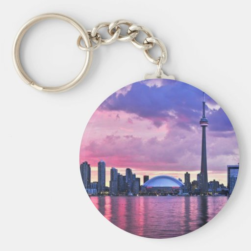 CN Tower : View from Center Island Toronto Keychain
