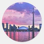 CN Tower : View from Center Island Toronto Round Sticker