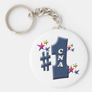 CNA Award Basic Round Button Keychain