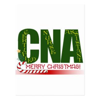CNA -CERTIFIED NURSE ASSISTANT MERRY CHRISTMAS POSTCARD