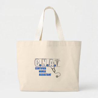 CNA Certified Nurse Assistant with Stethescope Large Tote Bag