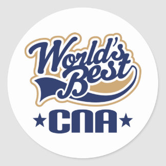 CNA Certified Nursing Assistant Gift Classic Round Sticker