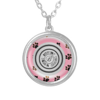 CNA Certified Nursing Asst Stethoscope Round Pendant Necklace