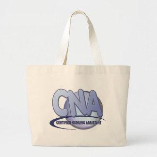 CNA FUN BLUE CERTIFIED NURSING ASSISTANT LARGE TOTE BAG
