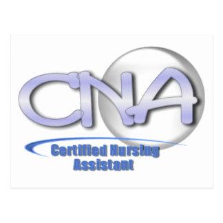 CNA FUN BLUE - CERTIFIED NURSING ASSISTANT POSTCARD