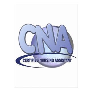 CNA FUN BLUE CERTIFIED NURSING ASSISTANT POSTCARDS