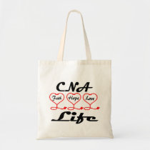 CNA Hope Love Faith Tote Bag