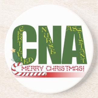 CNA MERRY CHRISTMAS COASTERS CERTIFIED NURSE ASSIS