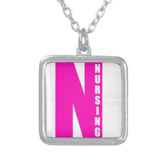 cna parents silver plated necklace