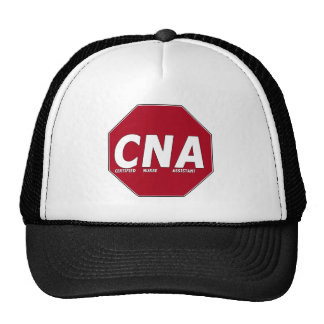 CNA STOP SIGN - CERTIFIED NURSE ASSISTANT TRUCKER HATS