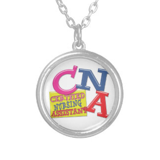 CNA WHIMSICAL LETTERS  CERTIFIED NURSING ASSISTANT CUSTOM NECKLACE