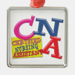 CNA WHIMSICAL LETTERS  CERTIFIED NURSING ASSISTANT CHRISTMAS TREE ORNAMENTS