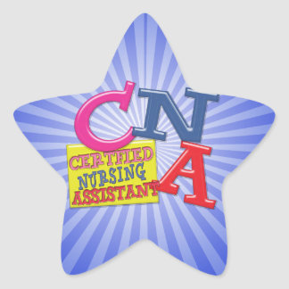 CNA WHIMSICAL LETTERS  CERTIFIED NURSING ASSISTANT STICKER