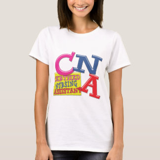 CNA WHIMSICAL LETTERS  CERTIFIED NURSING ASSISTANT T-Shirt