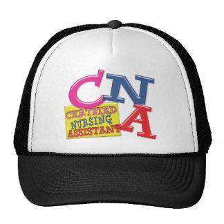 CNA WHIMSICAL LETTERS  CERTIFIED NURSING ASSISTANT TRUCKER HAT