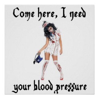 CNA Zombie Nurse, funny Poster