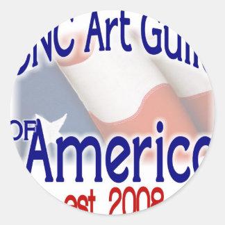 CNC Art Guild Stuff Classic Round Sticker