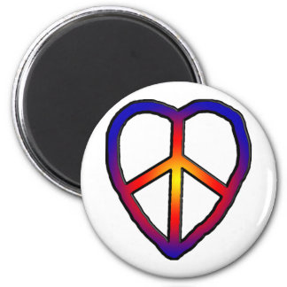 CND Heart copy 2 Inch Round Magnet
