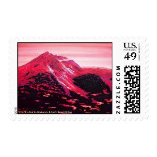 Cnicht in Red Fine Art Postage Stamp