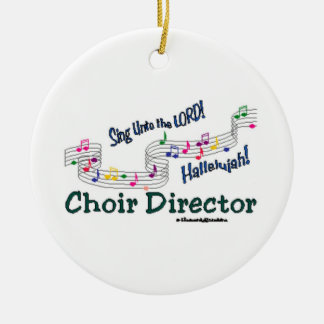 Cnotes Church Choir Director Double-Sided Ceramic Round Christmas Ornament