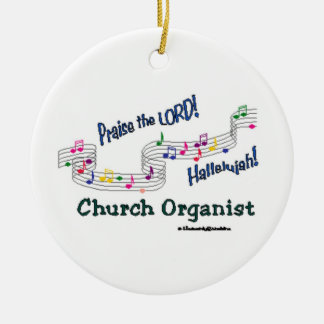 Cnotes Church Organist Ceramic Ornament
