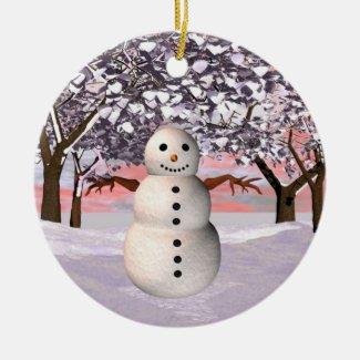 Cnowman ornament customize