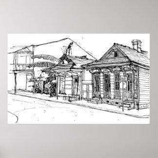 Cnr. St. Phillips & Burgundy Streets, New Orleans Poster