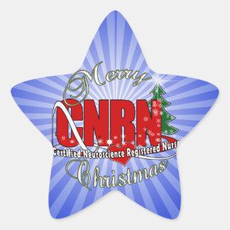 CNRN CHRISTMAS Neuroscience Registered Nurse Star Sticker