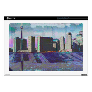"CNTower CN+Tower Toronto lake Ontario Landmark fun 17"" Laptop Decal"