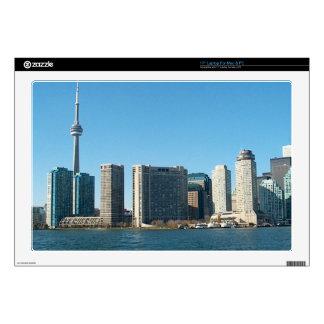 "CNTower CN+Tower Toronto lake Ontario Landmark fun 17"" Laptop Skin"