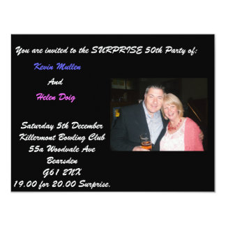 CNV00001, You are invited to the SURPRISE 50th ... Card