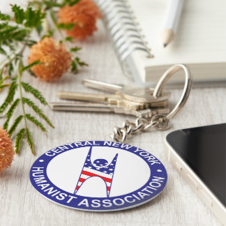 CNY Humanist Association Round Keychain