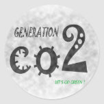 CO2 CLASSIC ROUND STICKER
