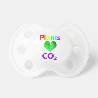 CO2 del amor de las plantas Chupete