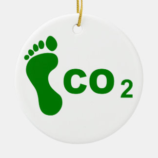 CO2 Footprint Ceramic Ornament