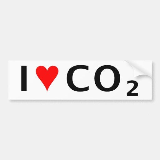 CO2 i <3 Pegatina Para Auto