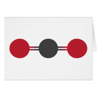 CO2 Molecular Structure Card