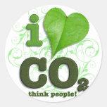 CO2 PEGATINA REDONDA