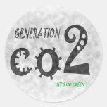 CO2 ROUND STICKER