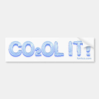 ¡CO2OL ÉL! pegatina para el parachoques Pegatina Para Auto
