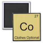 Co - Clothes Optional Chemistry Element Symbol Tee 2 Inch Square Magnet