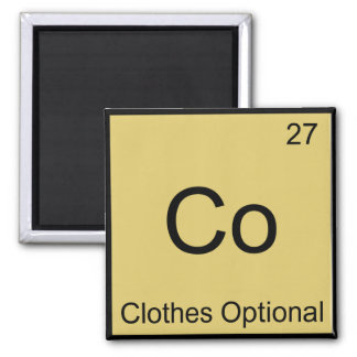 Co - Clothes Optional Chemistry Element Symbol Tee Magnet