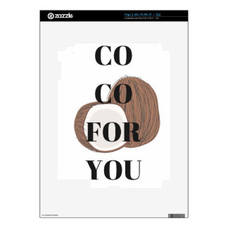 Co Co Coconut Text Illustration Design Decal For iPad 2