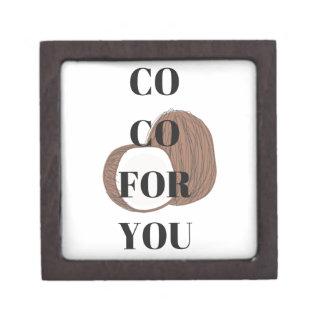 Co Co Coconut Text Illustration Design Gift Box