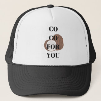 Co Co Coconut Text Illustration Design Trucker Hat